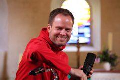 ein gutes Zeichen: ein lächelnder Tonmeister: Dirk Alexander